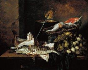 Abraham van Beyeren: Fischstillleben