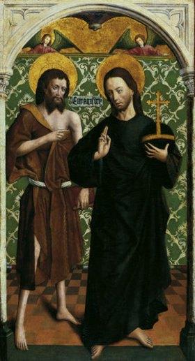 Johann Koerbecke: Teil eines Johannes-Altares: Christus und Johannes der Täufer