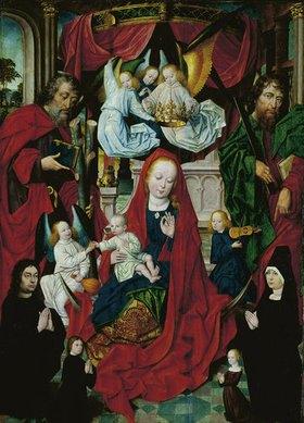 Derick Baegert: Maria mit Kind, Aposteln und Stifterfamilie