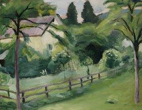 August Macke: Landhaus mit Garten
