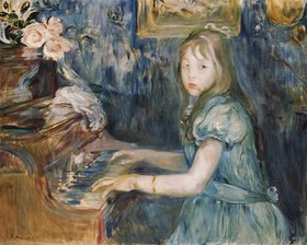 Berthe Morisot: Lucie Leon Klavier spielend