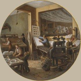 Jean-Charles Develly: In einer Druckerei. Zwischen