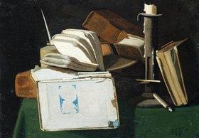 John Frederick Peto: Stillleben mit Büchern und Kerze