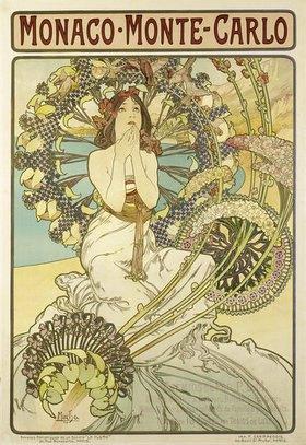 Alfons Mucha: Plakat für die Eisenbahngesellschaft 'Chemin de Fers P.L.M.'