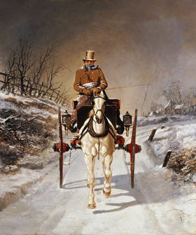 Benjamin Herring d.J.: Winterliche Kutschfahrt