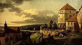Bernardo (Canaletto) Bellotto: Blick vom Schloss Sonnenstein auf Pirna