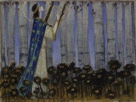 Melchior Lechter: Orpheus. Entwurf für das Gemälde (siehe Bildnummer 32138)