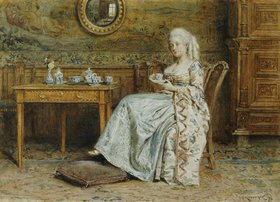 George Goodwin Kilburne: Afternoon Tea