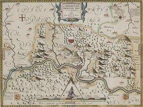 Johannes Gigas: Pauluskarte des Hochstifts Münster aus: 'Prodromus Geographicus...'. Köln