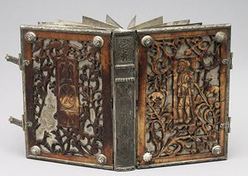 Unbekannter Künstler: Lutherbibel (Buch mit 27 Metall- und Pergamentblättern)
