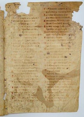Handschrift: Parzival: Bruchstücke einer Pergamenthandschrift des 14. Jahrhunderts