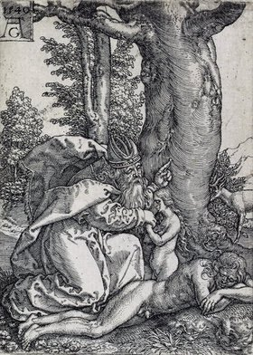 Heinrich Aldegrever: Die Geschichte von Adam und Eva: Die Erschaffung der Eva