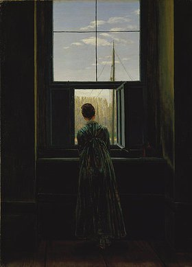 Caspar David Friedrich: Frau am Fenster. 1822(?)