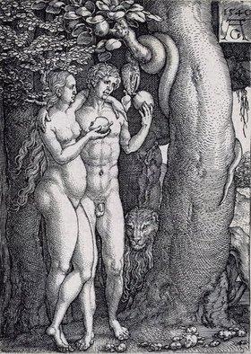Heinrich Aldegrever: Die Geschichte von Adam und Eva: Der Sündenfall