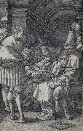 Heinrich Aldegrever: Die Josephsgeschichte: Josephs Traumdeutung