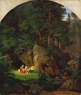 Ludwig Richter: Genoveva in der Waldeinsamkeit