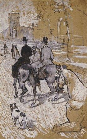 Henri de Toulouse-Lautrec: Reiter auf dem Weg zum Bois du Bolougne