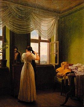 Georg Friedrich Kersting: Vor dem Spiegel