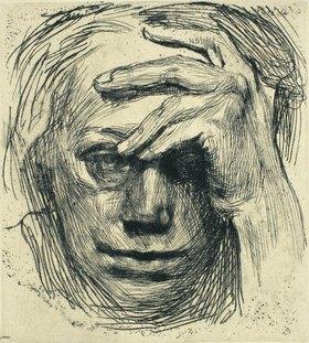 Käthe Kollwitz: Selbstbildnis. 1910 (Druck 1914/15 in Zeitschrift für 'Bildende Kunst')
