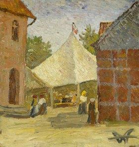 Wilhelm Morgner: Festplatz / Gewandfalten