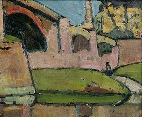 Hermann Stenner: Viadukt (Cannstatt) (Rückseite von Bildnummer 32473)