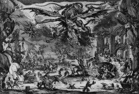 Jacques Callot: Die Versuchung des Heiligen Antonius (2. Zustand von 5)
