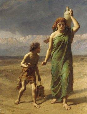 Frederick Goodall: Hagar und Ismael