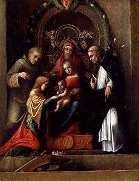 Correggio (Antonio Allegri): Die mystische Vermählung der heiligen Katharina