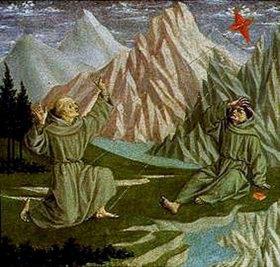 Domenico Veneziano: Der hl.Franziskus empfängt die Wundmale