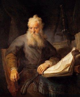 Rembrandt van Rijn: Apostel Paulus. 1633 (?)