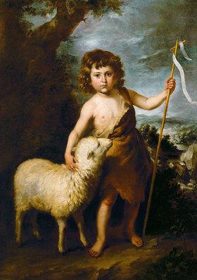Bartolomé Estéban (Werktatt) Murillo: Johannes der Täufer als Kind