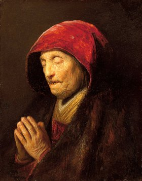 Rembrandt van Rijn: Betende alte Frau, bekannt als 'Rembrandts Mutter'