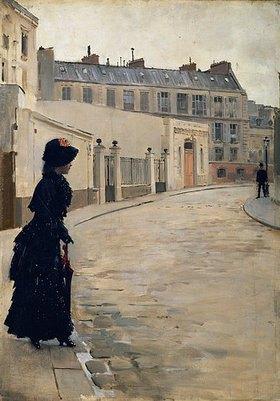 Jean Béraud: Warten, rue de Chateaubriand, Paris