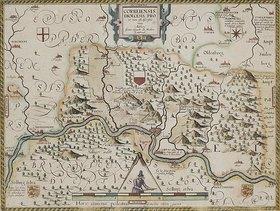 Johannes Gigas: Karte der Fürstabtei Corvey, aus: Prodomus Geopgraphicus [...]. Köln