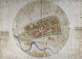 Leonardo da Vinci: Stadtplan von Imola