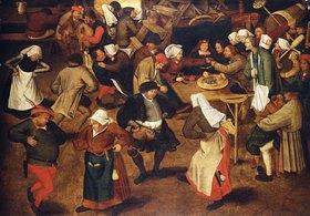 Pieter Brueghel d.J.: Der Hochzeitstanz in der Scheune