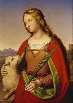 Johann von Schraudolph: Die heilige Agnes