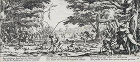 Jacques Callot: Les Miseres et les Mal-Heurs de la Guerre (Blatt 17): Die Rache der Bauern