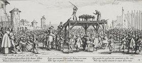 Jacques Callot: Les Miseres et les Mal-Heurs de la Guerre (Blatt 14): Das Rad