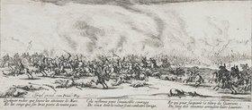 Jacques Callot: Les Miseres et les Mal-Heurs de la Guerre (Blatt 3): Die Schlacht