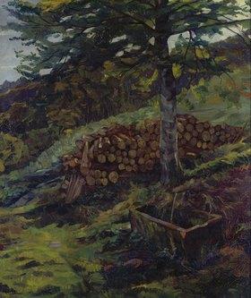 Wilhelm Trübner: Der Siegfried-Brunnen bei Eberbach im Odenwald