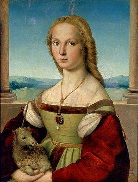 Raffael (Raffaello Sanzio): Die Dame mit dem Einhorn