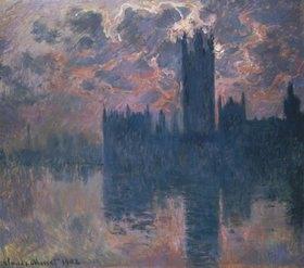 Claude Monet: Das Parlament in London bei Sonnenuntergang
