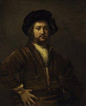 Rembrandt van Rijn: Bildnis eines Mannes mit in die Seite gestützten Armen