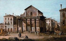 Bernardo (Canaletto) Bellotto: Rom: Das Forum mit dem Tempel des Antoninus und der Faustina
