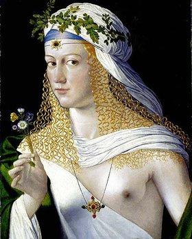 Bartolomeo da Veneto: Idealbildnis einer Kurtisane als Flora