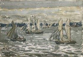 Maurice Brazil Prendergast: Der Hafen von Boston, ein verregneter Tag