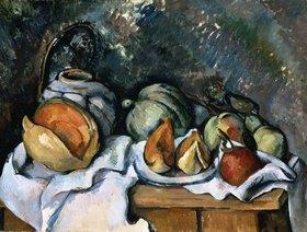 Paul Cézanne: Stillleben mit Früchten und Ingwerkrug