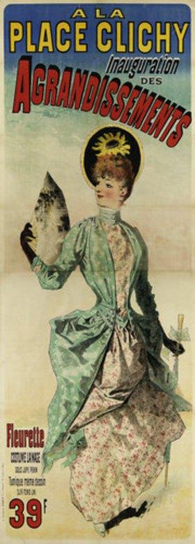 Jules Cheret: A la place Clichy. Gedruckt bei Chaix, Paris 1888