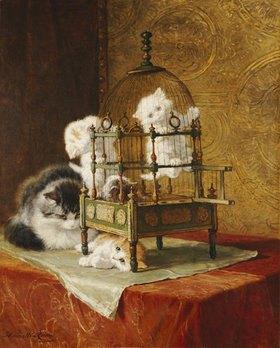 Henrietta Ronner-Knip: Spielende Katzenkinder